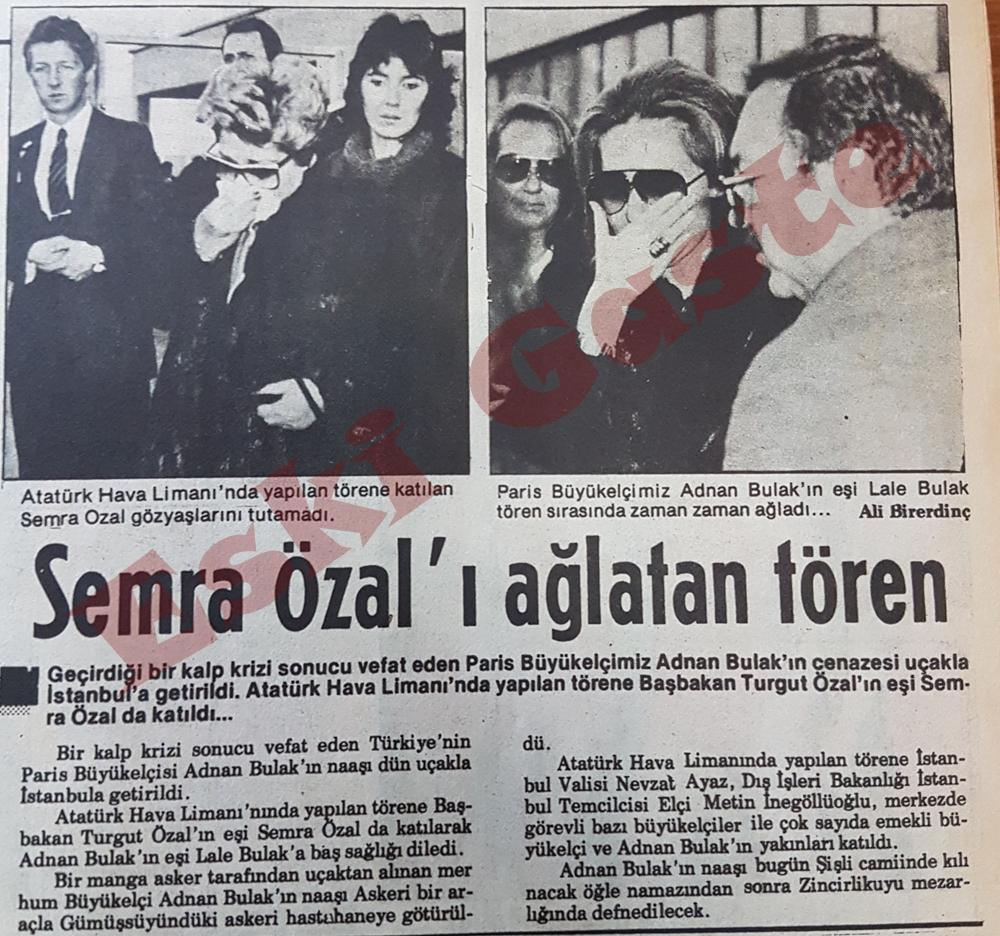 Semra Özal'ı ağlatan tören