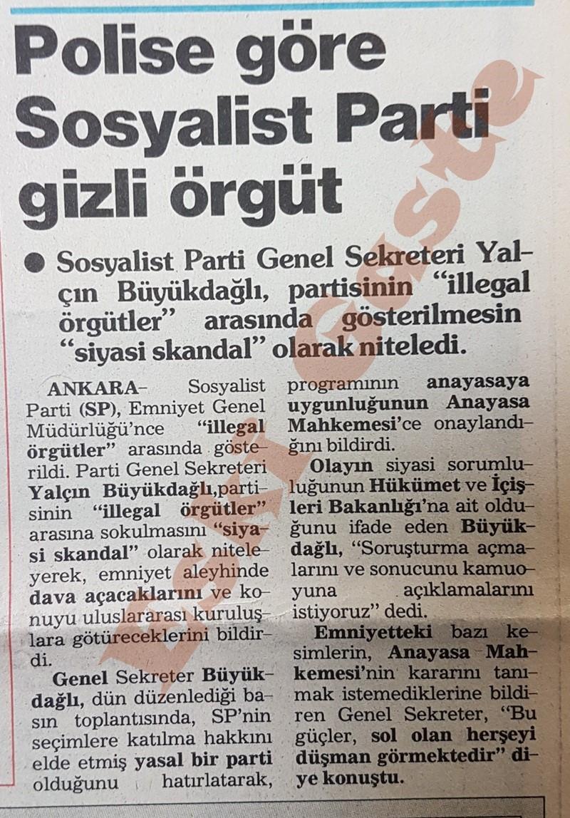 Polise göre Sosyalist Parti gizli örgüt