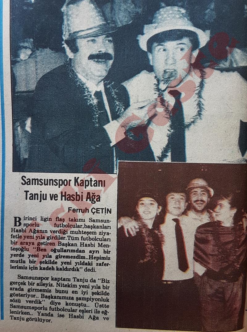 Samsunspor kaptanı Tanju Çolak  ve Hasbi Menteşoglu