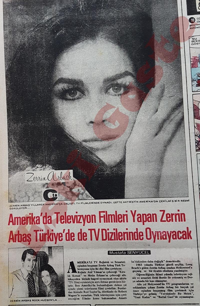 Amerika'da televizyon filmleri yapan Zerrin Arbaş Türkiye'de de TV dizelerinde oynayacak