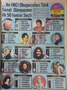 1974 yılı en iyi 50 sanatçı