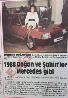 1988 Doğan ve Şahin'ler Mercedes gibi