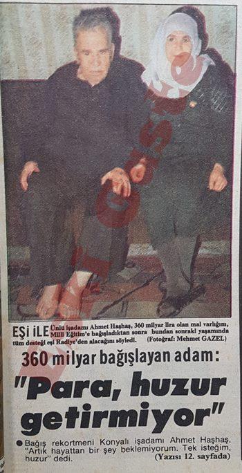 Bağış rekortmeni Ahmet Haşhaş kimdir