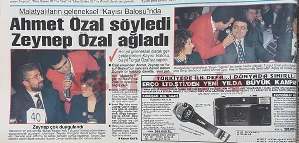 Ahmet Özal söyledi Zeynep Özal ağladı