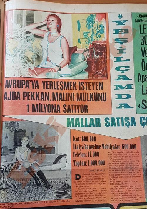 Ajda Pekkan malını mülkünü 1 milyona satıyor