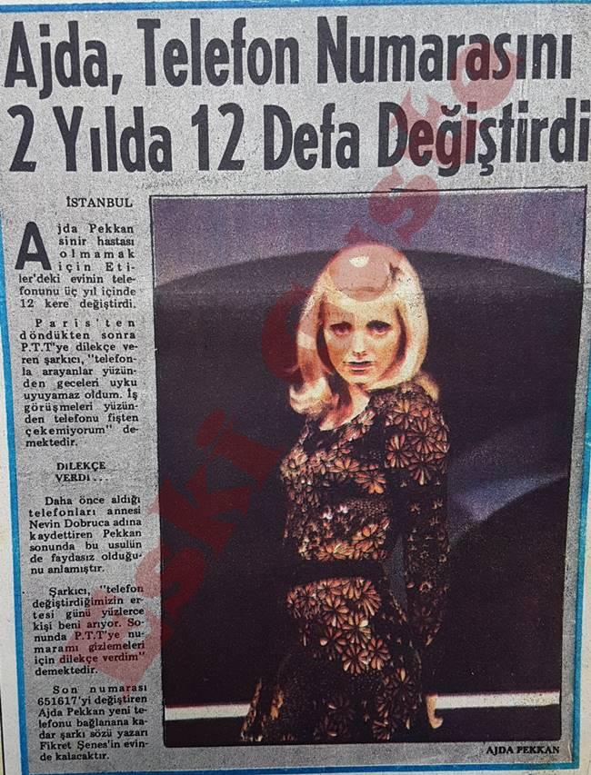 Ajda Pekkan telefon numarasını 2 yılda 12 defa değiştirdi