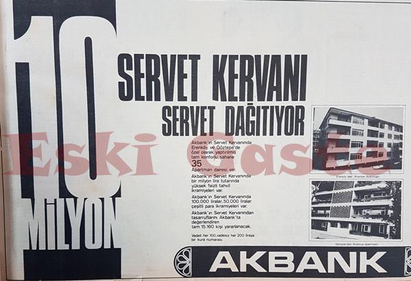 1972 yılından Akbank reklamı