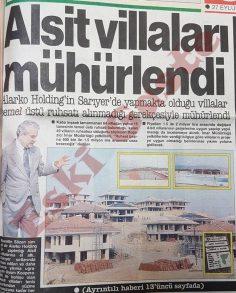 Alsit Villaları mühürlendi