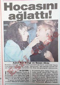 Aşkın Nur Yengi Sezen Aksu'yu ağlattı