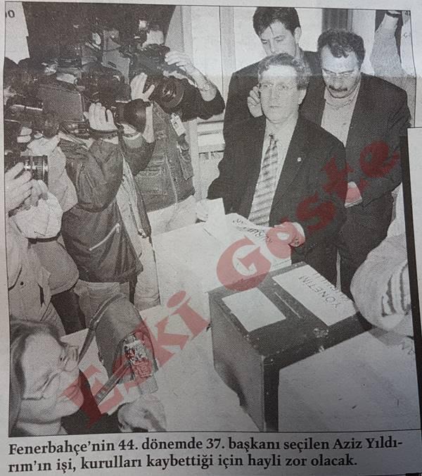 Aziz Yıldırım bir oy farkla Fenerbahçe başkanı