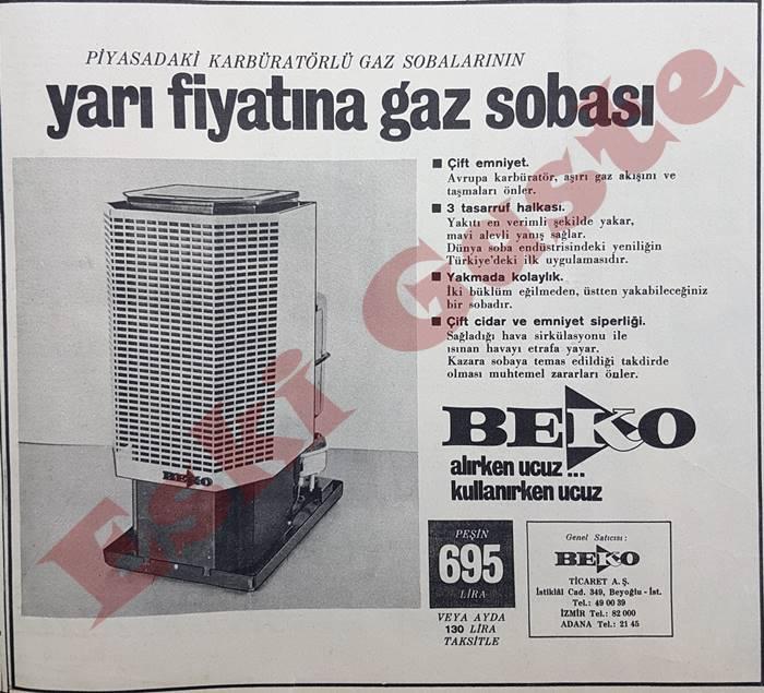 Beko gaz sobası reklamı