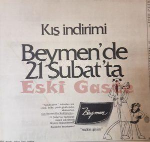 Beymen Reklamı - Eski Reklamlar