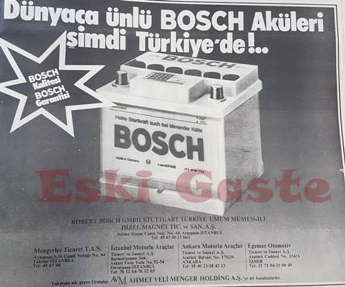 Bosch akü reklamı
