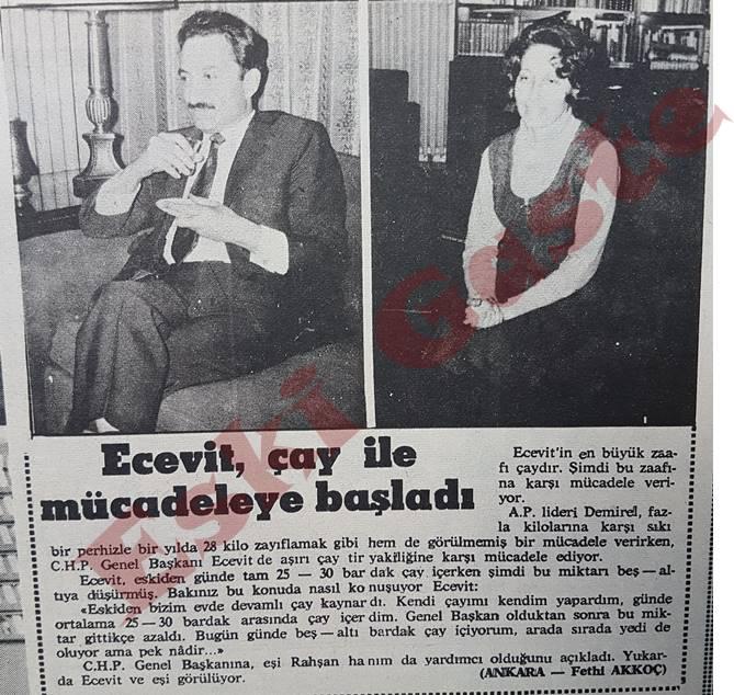 Bülent Ecevit çay ile mücadeleye başladı