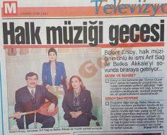 Bülent Ersoy, Arif Sağ ve Belkıs Akkale'yi konuk ediyor