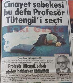 Profesör Tütengil otobüs beklerken öldürüldü! Cavit Orhan Tütengil kimdir?