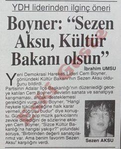 Cem Boyner - Sezen Aksu