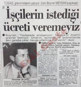 TÜSİAD Başkanı Cem Boyner