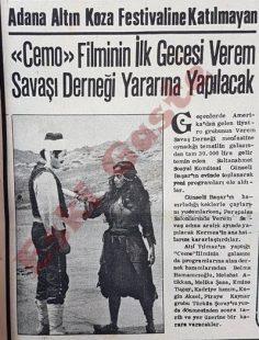 Cemo filminin ilk gecesi Verem Savaşı Derneği yararına yapılacak