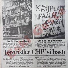 Teröristler CHP Fatih binasını bastı