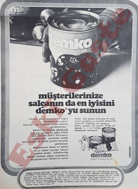 Demko salça reklamı