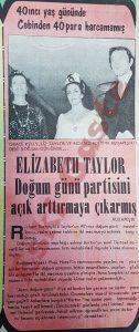 Elizabeth Taylor Doğum Günü Partisi