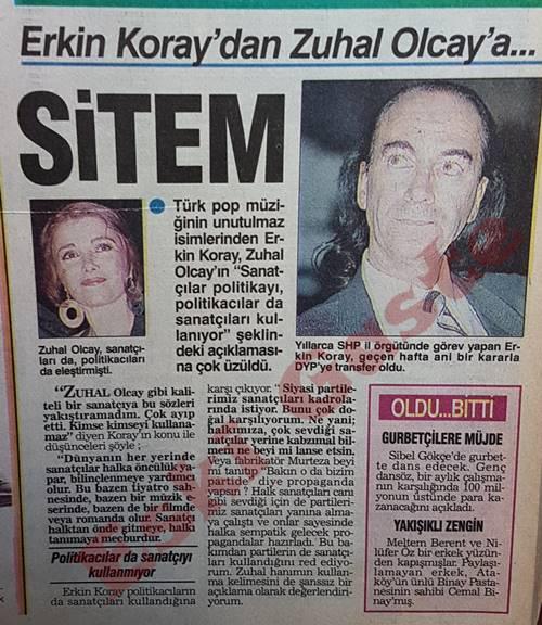 Erkin Koray'dan Zuhal Olcay'a sitem