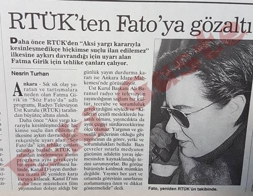 RTÜK'ten Fatma Girik'e gözaltı