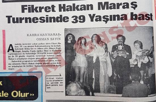 Fikret Hakan Kahramanmaraş turnesinde 39'una bastı
