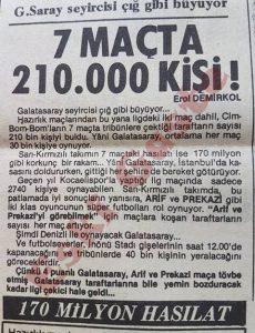 Galatasaray taraftarı 1985