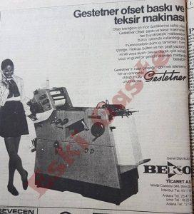Gestetner Reklamı - Eski Reklamlar