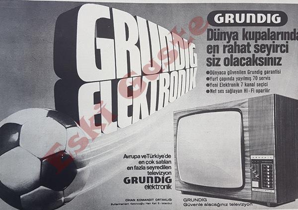 1974 yılındaki Grundig reklamı