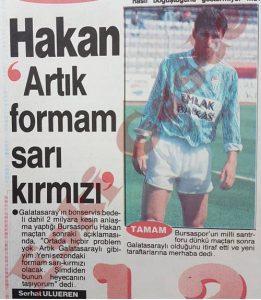 Hakan Şükür Bursaspor - Eski Fotoğraflar