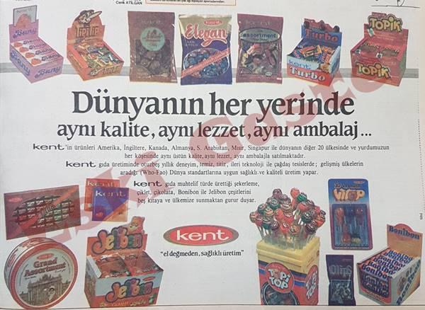 Kent şeker reklamı