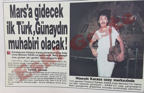 Mars'a gidecek ilk Türk Günaydın muhabiri olacak