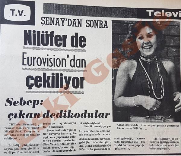 Nilüfer de Eurovision'dan çekiliyor