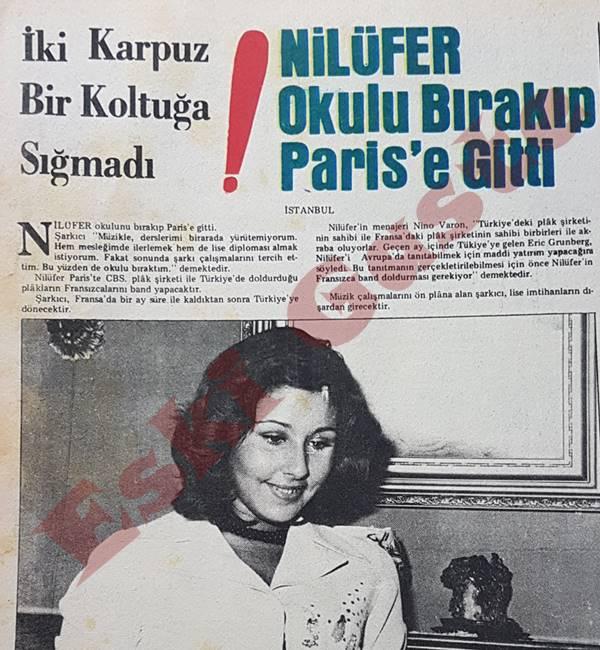 Nilüfer okulu bırakıp Paris'e gitti