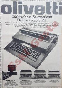 Olivetti - Eski Reklamlar