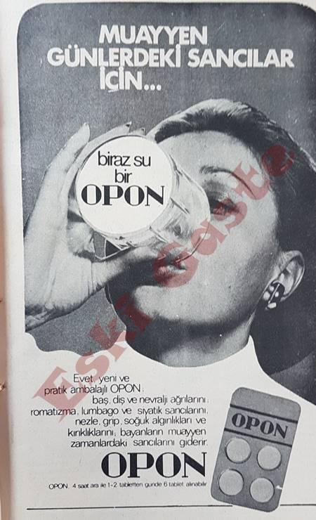 Opon ilaç reklamı