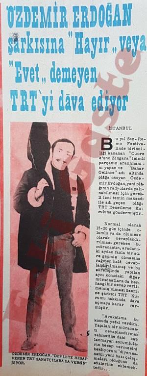 Özdemir Erdoğan TRT'yi dava ediyor