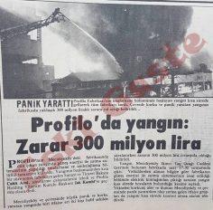 Profilo'da yangın: Zarar 300 milyon lira