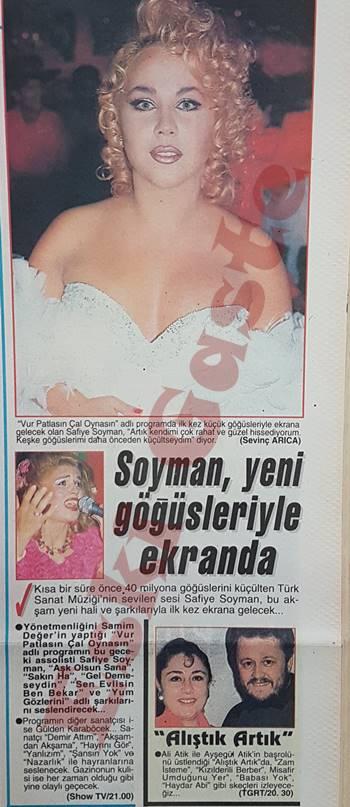 Safiye Soyman yeni göğüsleriyle ekranda