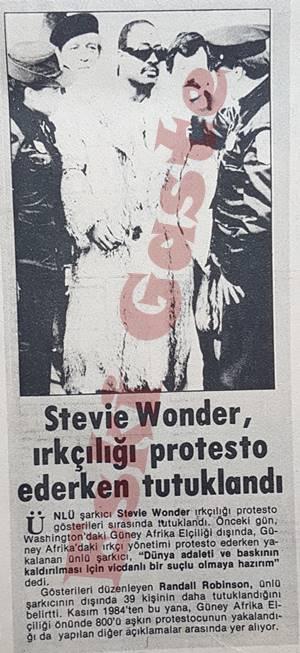 Stevie Wonder, ırkçılığı protesto ederken tutuklandı