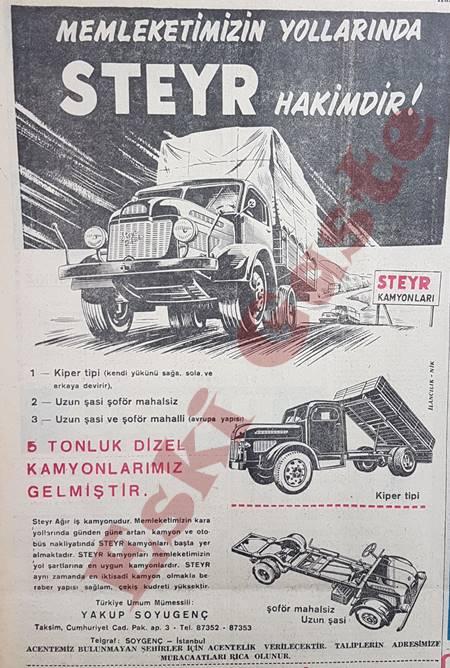 Steyr kamyon reklamı