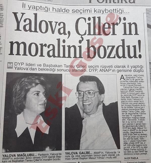 Yalova Çiller'in moralini bozdu
