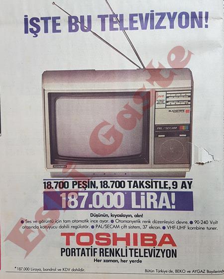 Toshiba portatif televizyon reklamı