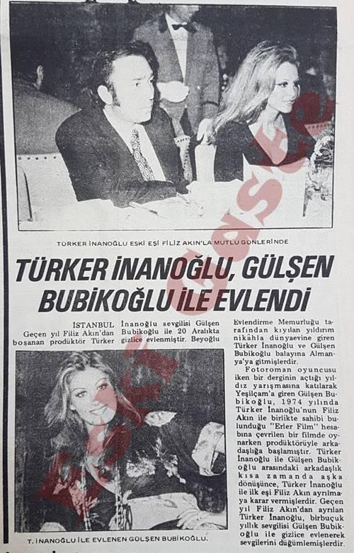 Türker İnanoğlu, Gülşen Bubikoğlu ile evlendi