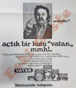 Vatan Konserve Reklamı