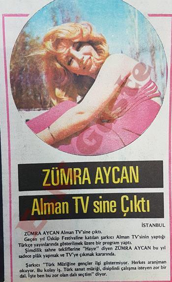 Zümra Aycan Alman TV'sine çıktı