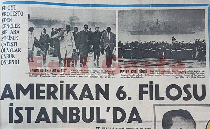 Amerikan 6. Filosu İstanbul'da